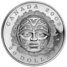moon mask 2009 20 summer moon mask silver coin royal canadian mint