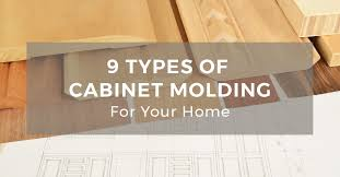 how to trim cabinets 9 types of molding for your kitchen cabinets