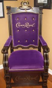 crown royal kings throne man cave chair collectible car racing