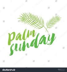 palms for palm sunday palm sunday title palms stock vector 589913123