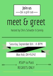 invitation wording meet and greet invitation ideas