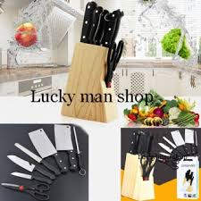 as seen on tv 8 pieces set stainless steel kitchen knives lazada ph