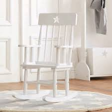 Kid Rocking Chair Star White Wooden Rocking Chair Kids Chairs U0026 Sofas Cuckooland