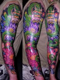 black wings and fire bird dragon tattoo sleeve best tattoo ideas