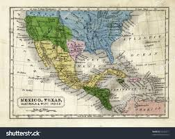 Map Of Mexico And Texas by 1845 Map Texas Republic United States Stock Illustration 53225671