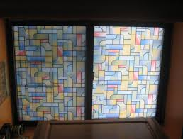 decorations alluring stained glass window film for modern home