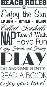 Family House Rules by Beach Rules Wall Decal Wall Decal World