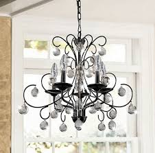 Pottery Barn Celeste Chandelier Iron And Crystal Chandelier Look 4 Less And Steals And Deals