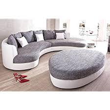 rund sofa ecksofa ferro sofagarnitur mit hocker und kissen rundsofa