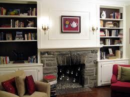Decorating Around A Corner Fireplace 100 Half Day Designs Update Fireplace And Bookshelves Hgtv
