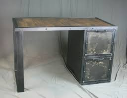 metal desk with file cabinet combine 9 industrial furniture industrial desk with file cabinet