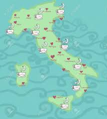 Italy Map Cities Funny Coffee Map Of Italy Most Important Cities Pointed Out
