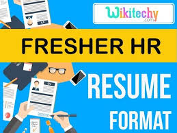 Hr Resume Format For Freshers Resume Fresher Hr Resume Sample Resume Resume Templates