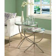 Silver Table Ls Living Room Unique Metal And Glass End Tables Painting For Your House Living