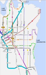 Seattle Public Transit Map by Capitol Hill Mobility
