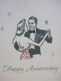 happy anniversary retro print anniversary card