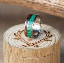 fields wedding rings strawberry fields jade satin and titanium rings
