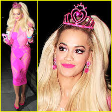 Barbie Ken Halloween Costume Rita Ora Dolled Barbie Halloween 2014