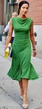 green goddess padma lakshmi wows in clinging emerald dress at new