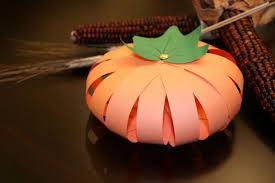 thanksgiving paper pumpkin craft