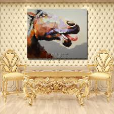 aliexpress com buy funny animal face oil painting decorative
