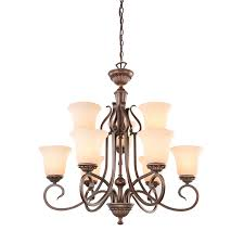 chandelier chandelier shop portfolio colton lakes 31 25 in 9 light oil rubbed bronze
