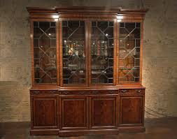 Display Cabinets With Lights Traditional George Iii Mahogany China Cabinet Bookcase Replica