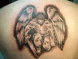 warrior angel tattoo on back for men photo 3 2017 real photo