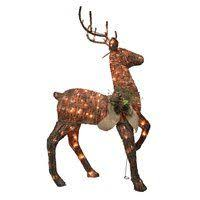 48 grapevine standing reindeer warm white led outdoor yard