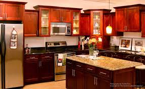 Kitchen Ideas With Cherry Cabinets by Home Design Brick Craftsman Style Ranch Homes Backyard Fire Pit