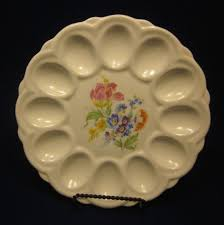 deviled eggs trays e r vintage deviled egg tray dish american artware floral design
