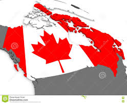 Canada On Map by Canada On Globe With Flag Stock Illustration Image 73628351