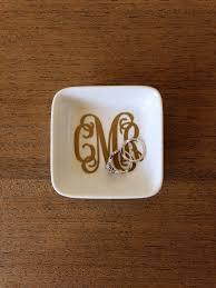 monogrammed dishes monogram jewelry dish personalized dish monogram ring dish