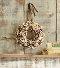 oyster shell wreath at seasideinspired com beach ocean home decor