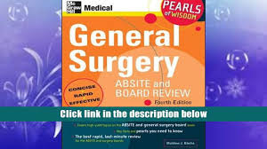read online general surgery absite and board review pearls of