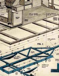 tear drop camper trailer plans vintage 1940 u0027s blueprint perfect