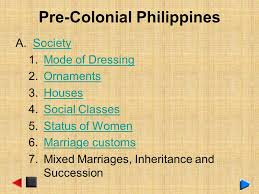 philippine history pre colonial period ppt