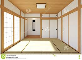 empty japanese living room interior in traditional and minimal