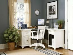 White Home Office Desks Home Office Chic Home Office Furniture Using L Shaped White Desk