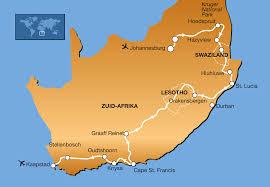 Lesotho Map 22 Daagse Single Groepsreis Zuid Afrika Swaziland U0026 Lesotho