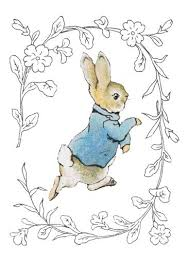 rabbit by beatrix potter beatrix potter rabbit floral border greeting card bb5276