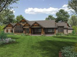 jaw dropping mix of ranch u0026 craftsman style home hq plan