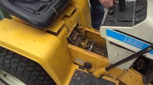 cub cadet 1250 neutral brake adjustment youtube