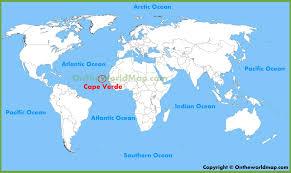 cape verde map world cape verde location map