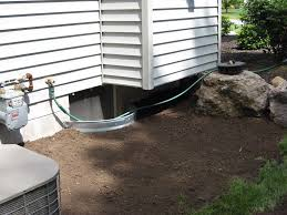 Adding Egress Window To Basement Gutter Downspout Drainage Sump Basin Discharge Line Drainage