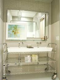 bathroom idea pictures trough sink vanity bathroom contemporary bathroom idea in with a