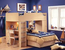 Bunk Bed Desk Combo Bunk Beds With Desks Cozy Room Designs Beautiful Green Castle