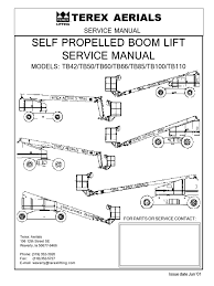 tb boom lift service manual steering battery electricity