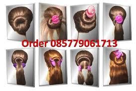 tutorial rambut wanita ikat rambut ajaib magic hair ikat rambut simpel dan grosir ikat
