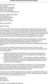 Cover Letter For Educational Leadership Resumes For Elementary School Principals Entry Level Assistant